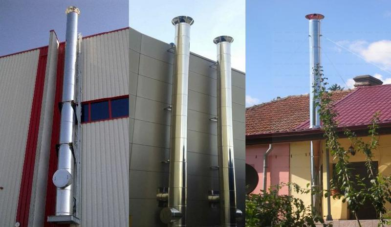 Stainless steel chimneys CE certified